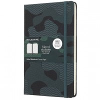 Блокнот Moleskine Limited Edition BLEND LGH Large 130х210 текстиль 240стр, зеленый, LCBD03QP060CAMOK