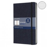 Блокнот Moleskine Limited Edition Denim Large 130х210мм текстиль 192с. т- синий линейка, LCDNB1QP060