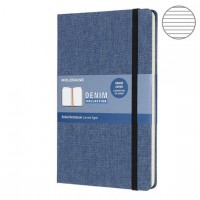 Блокнот Moleskine Limited Edition Denim Large 130х210мм текстиль 192стр. линейка, синий,  LCDNB2QP060