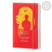 Блокнот Moleskine Limited Edition Game Of Thrones Pocket 90x140мм 192стр. линейка, красный, LEGTMM710