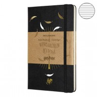 Блокнот Moleskine Limited Edition Harry Potter Large 130х210,192с. линейка черный Leviosа,  LEHPCQP060