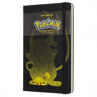 Блокнот Moleskine Limited Edition Pokemon Large 130х210мм 240стр. линейка Pikachu, LEPOQP060PK