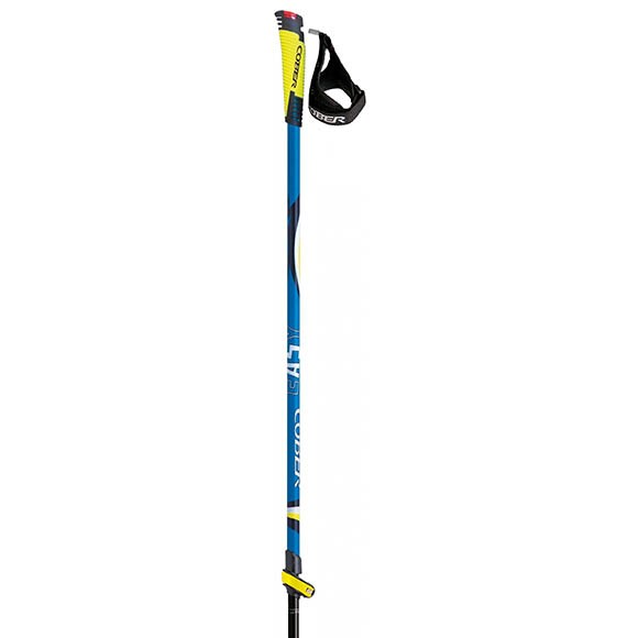 Палки треккинговые Cober Nordic Walking Easy lever blue 2,0 385