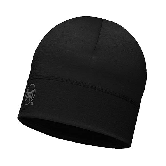 Шапка Buff Lightweight Merino Wool Hat Solid Black 113013.999.10.00