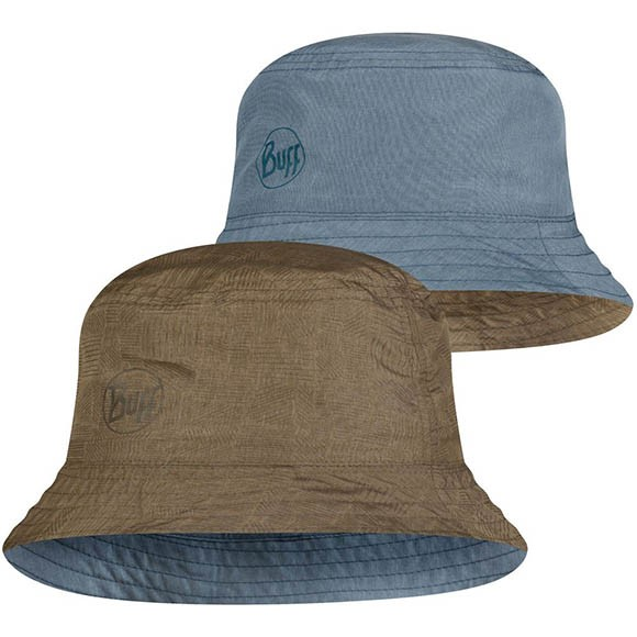 Панама Buff Travel Bucket Hat Zadok Blue-Olive